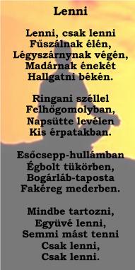 Lenni -Rácz Béla verse