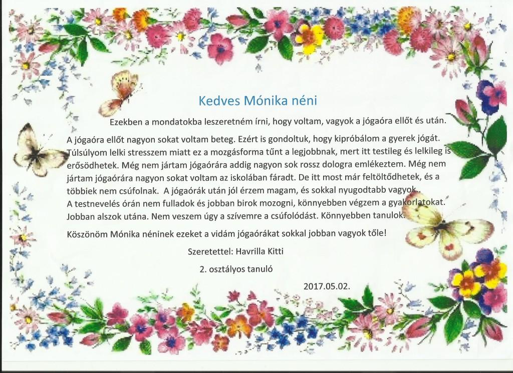 Mónika - levél Kittitől