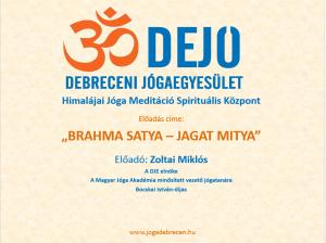 brahma satya-yagat mitya